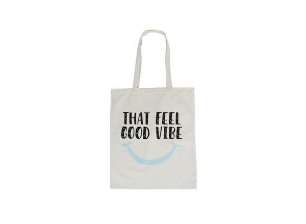 Canvas Tote Bag - That Feel Good Vibe - Annabel Trends
