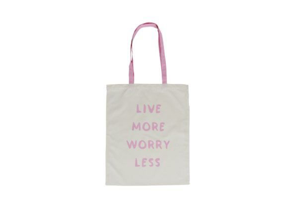 Canvas Tote Bag - Live More Worry Less 1