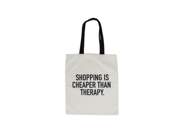 Canvas Tote Bag - Shopping Is Cheaper - Annabel Trends