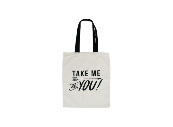 Canvas Tote Bag - Take Me With You 1