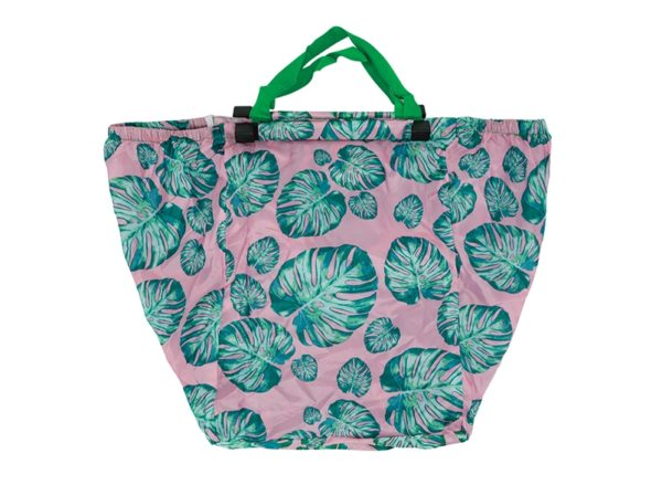 Shopping Trolley Bag - Monsteria Pink - Annabel Trends