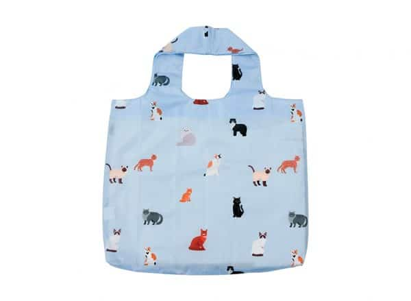 Shopping Tote - Cat Lover - Blue - Annabel Trends