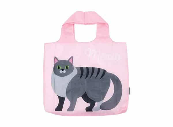 Shopping Tote - Tabby Cat - Pink - Annabel Trends
