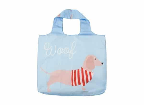 Shopping Tote - Dachshund - Blue - Annabel Trends