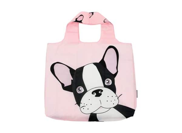 Shopping Tote - Frenchie - Pink 1