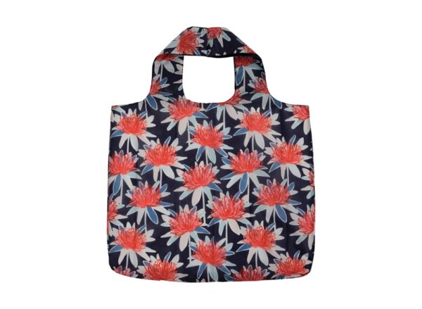 Shopping Tote - Flora - Tree Waratah Navy - Annabel Trends