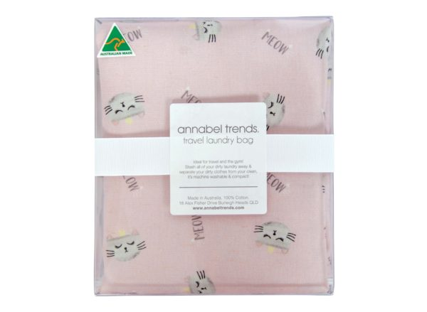 Laundry Bag - Cats Meow Pink - Annabel Trends