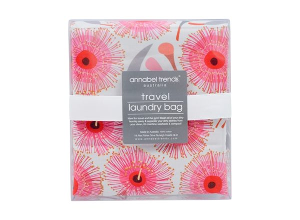 Laundry Bag - Pink Gum Blossom - Annabel Trends