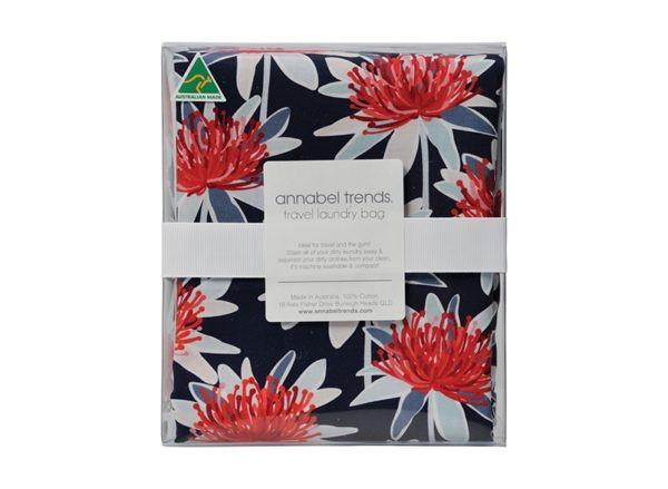 Laundry Bag - Tree Waratah Navy - Annabel Trends