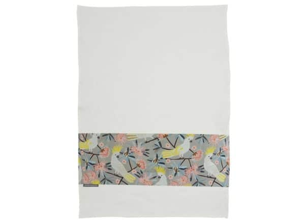 Tea Towel - Crested Cockatoo - Annabel Trends
