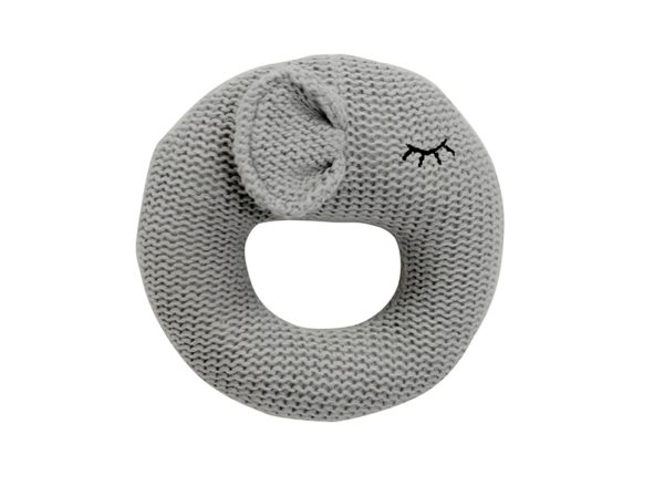Ring Rattle - Knit - Elephant - Annabel Trends