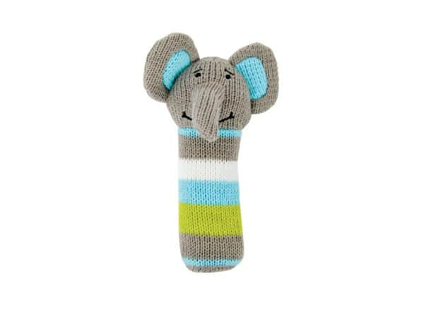 Hand Rattle - Knit - Elephant - Annabel Trends