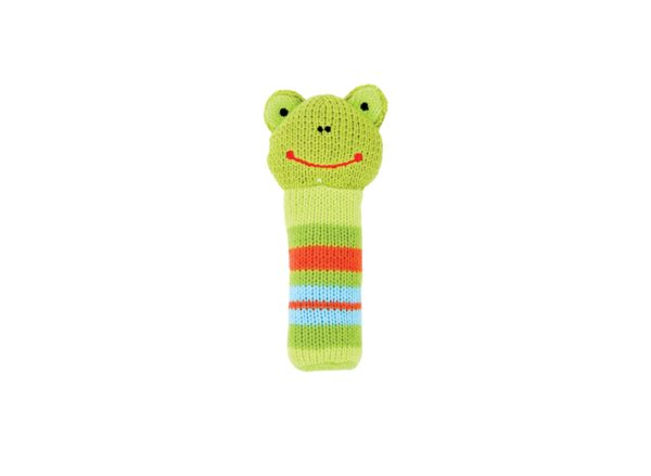 Hand Rattle - Knit - Frog - Annabel Trends