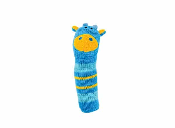 Hand Rattle - Knit - Giraffe - Annabel Trends