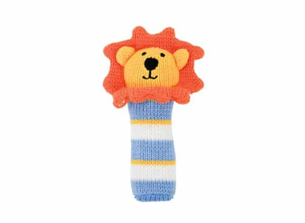 Hand Rattle - Knit - Lion Stripe - Annabel Trends