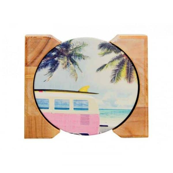 Coaster Set - Ceramic - Vintage Beach - Annabel Trends