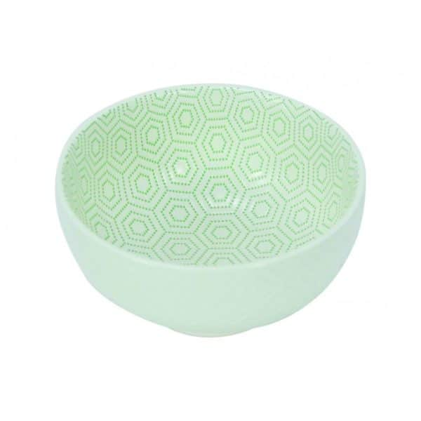 Ceramic Bowl - Large - Hexagon Green - Annabel Trends