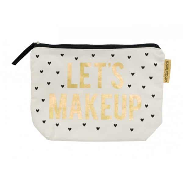 Canvas Cosmetic Bag - Lets Makeup - Annabel Trends