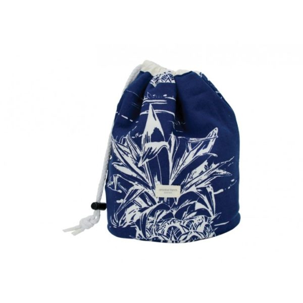 Drawstring Barrel Cosmetic Bag - Pineapple - Annabel Trends