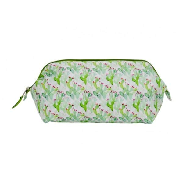 Wide Access Cosmetic Bag - Cactus - Annabel Trends