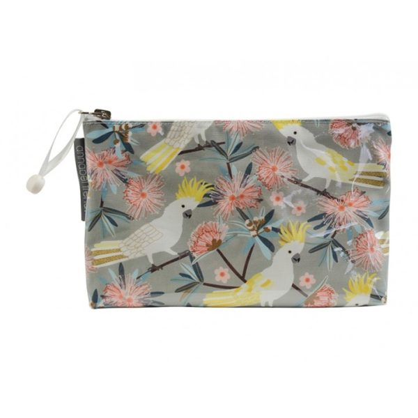 Cosmetic Bag - Small - Crested Cockatoo - Annabel Trends
