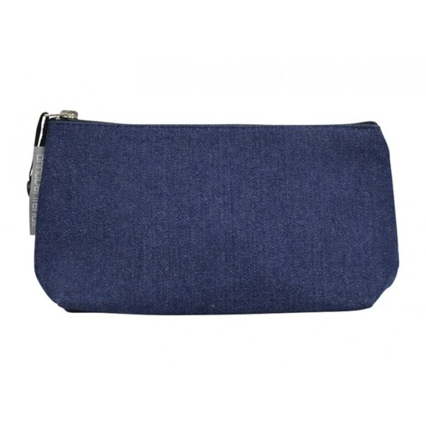 Toiletry / Cosmetic Bag - Small - Denim - Annabel Trends
