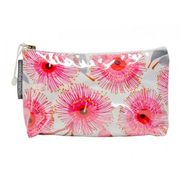 Cosmetic Bag - Small - Pink Gum Blossom - Annabel Trends