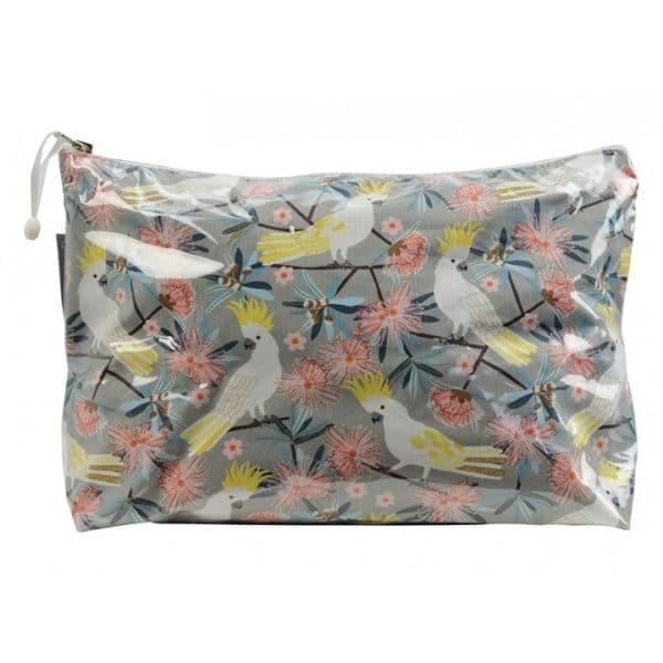 Cosmetic Bag - Large - Crested Cockatoo - Annabel Trends