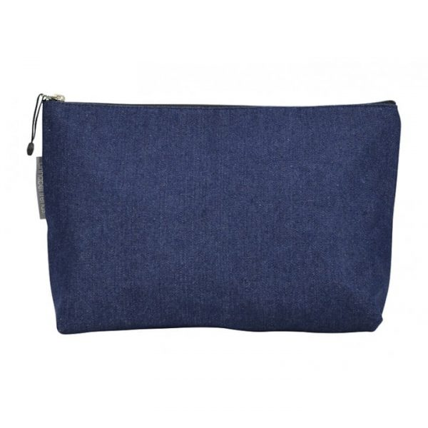 Toiletry / Cosmetic Bag - Large - Denim - Annabel Trends
