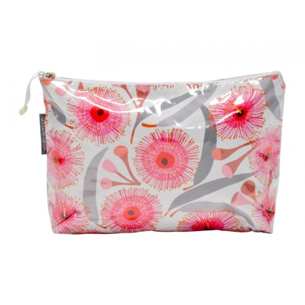 Cosmetic Bag - Large - Pink Gum Blossom - Annabel Trends