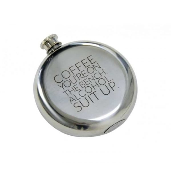 Hip Flask - Round - Coffee Suit Up - Annabel Trends