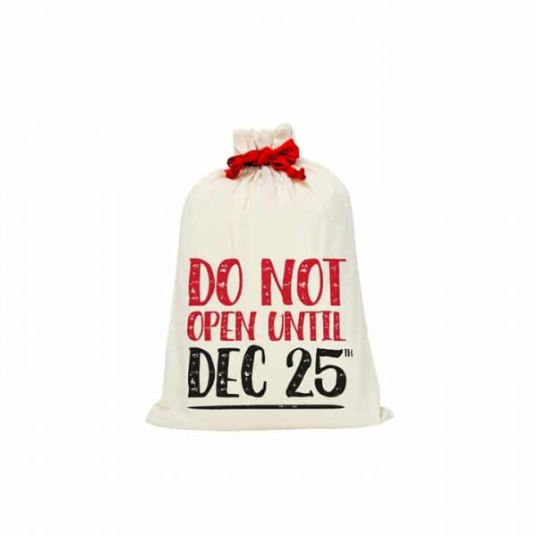 Santa Sack - Canvas - Do Not Open - Annabel Trends