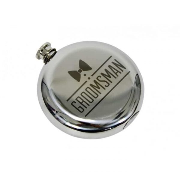 Hip Flask - Round - Groomsman - Annabel Trends
