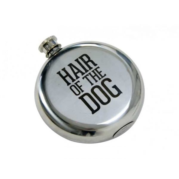 Hip Flask - Round - Hair Of The Dog 1