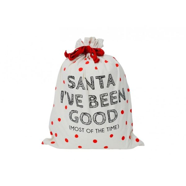 Santa Sack - Canvas - Santa I've Been Good - Annabel Trends