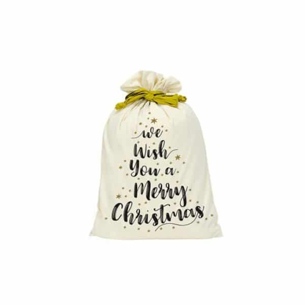 Santa Sack - Canvas - We Wish You - Annabel Trends