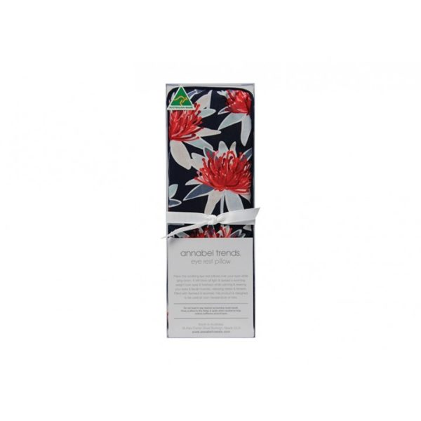 Eye Rest Pillow - Tree Waratah Navy - Annabel Trends