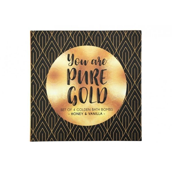 Bath Bomb Gift Set - Pure Gold - Annabel Trends