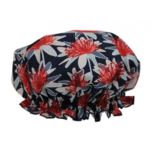 Shower Cap - Tree Waratah Navy - Annabel Trends