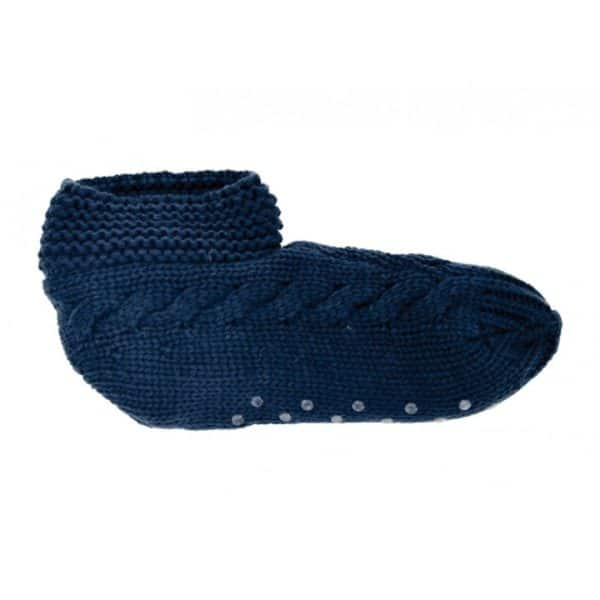 Slouchy Slippers - Mens - Navy 1