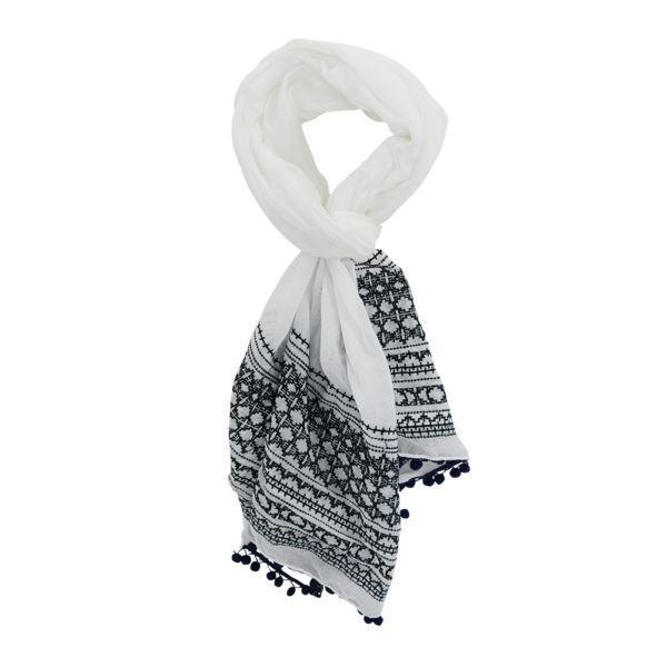 Scarf - Embroidered - Annabel Trends