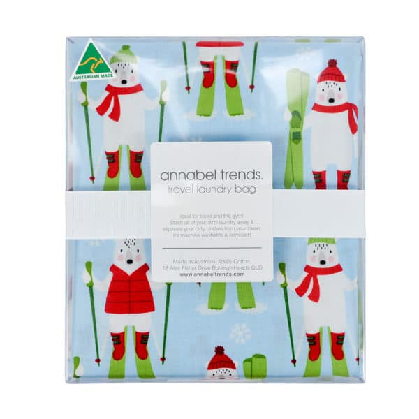 Laundry Bag - Frosty Friends - Sky - Annabel Trends