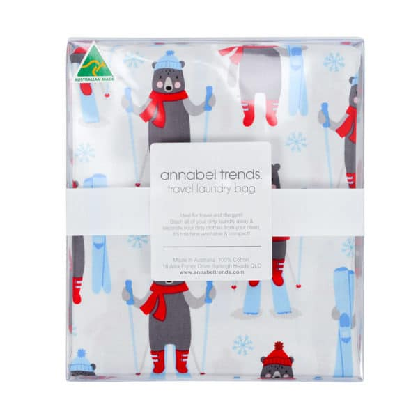 Laundry Bag - Frosty Friends - Snow - Annabel Trends