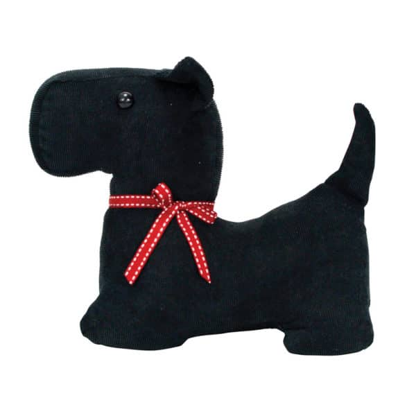 Doorstop - Scotty Dog - Black Cord - Annabel Trends