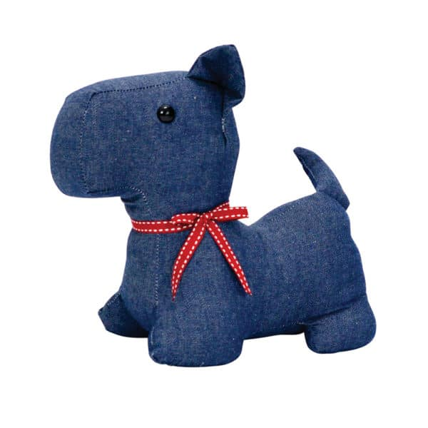 Doorstop - Scotty Dog - Denim - Annabel Trends