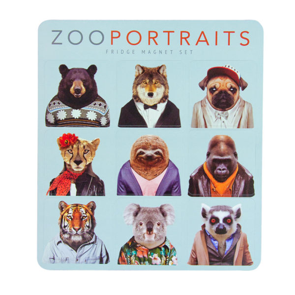 Zoo Portrait Magnet Set - Original - Annabel Trends