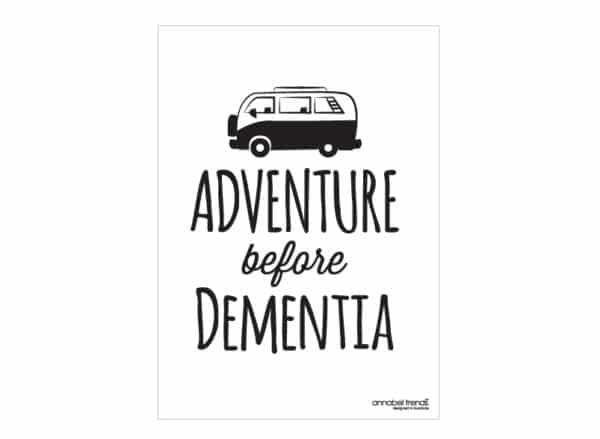 Tea Towel - Cotton - Adventure B4 Dementia - Annabel Trends