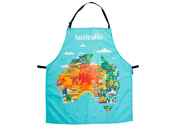 Australia Apron - Map - Annabel Trends