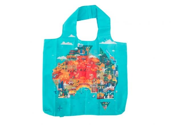 Australia Shopping Tote - Map - Annabel Trends