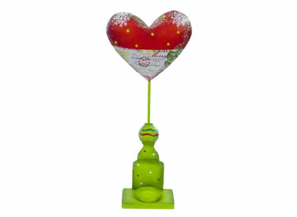 Iron Christmas Decorative set - Heart Candle Holder Set - Annabel Trends